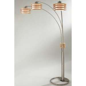 Kobe Arc Floor Lamp 82h Dk Brw/Brs Nckl Home Improvement
