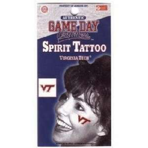 Virginia Tech University Tattoo Vt Logo Case Pack 84: Sports