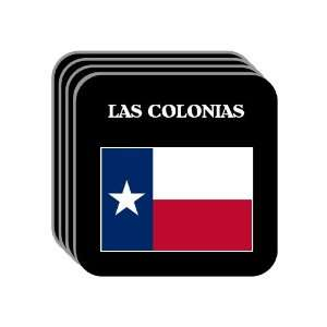 US State Flag   LAS COLONIAS, Texas (TX) Set of 4 Mini