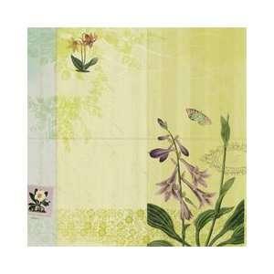 Flora & Fauna Glitter Paper 12X12 Woodland Floral Arts