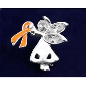 Orange Ribbon Pin Angel By My Side (27 Pins): Everything