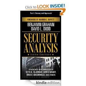 Securiy Analysis, Sixh Ediion, Par I Survey and Approach David L