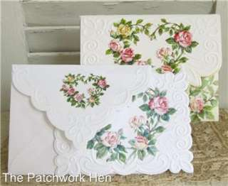 Carol Wilson Rose Wreath Blank Note Card Set 10ct 095372723794