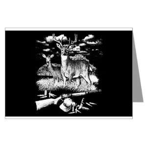 Cards (10 Pack) Deer Hunting Buck Doe Rifle and Hat: Everything Else