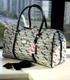 Hello Kitty gray travel bag shoulder bag luggage NEW #1