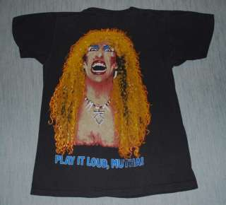 VINTAGE TWISTED SISTER STAY HUNGRY TOUR T  SHIRT 1984 M