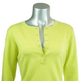 Sutton Studio Womens Cotton Blend Stretch Henley Top XL