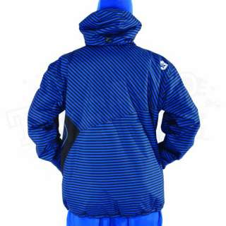 New 2012 Sessions Mens Truth Jacket   Blue Royale Mini Stripe   Size X