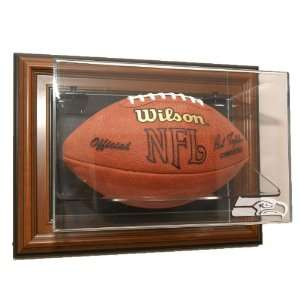 Seattle Seahawks Football Case Up Display   Brown