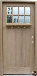 Craftsman 3 0 Wood Entry Front Door   8 Light w/ Shelf