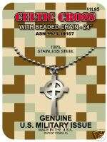 Military Issue Pendant, CELTIC CROSS NECKLACE, Irish American