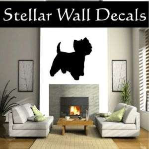 Terrier Westie 2 Dog Wall Car Vinyl Decal Sticker
