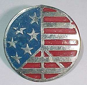 Vietnam War *American Peace Flag* Round Beercan D.I. Pin