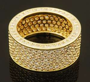 Mens 14K Gold Plated Micro Pave Hip Hop Bling Iced Out CZ Pinky Ring