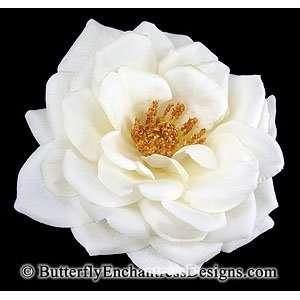 Ivory Natasha Rose Flower Hair Clip