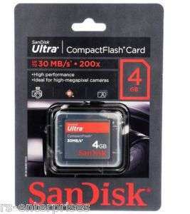 Genuine SanDisk 4GB Ultra Compact Flash CF Memory Card