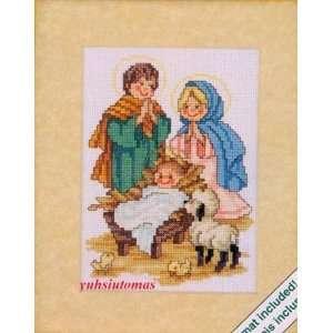 Weekenders Nativity Children w/mat Cross Stitch Kit: Arts