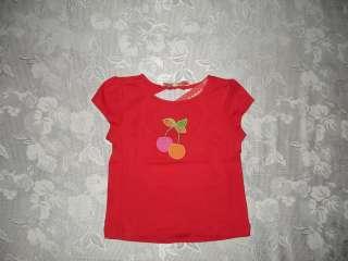 Girls GYMBOREE CHERRY BABY Red Shirt/Top Sz 18 24 M NWT