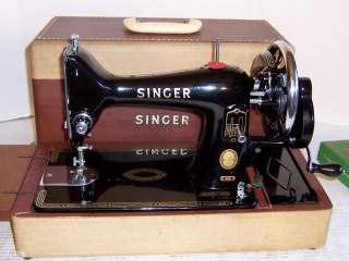 1956 Singer model 99 Hand Crank Sewing Machine with Flip Down Bed
