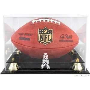 Houston Oilers Golden Classic Logo Football Display Case