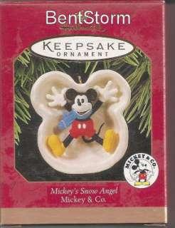 Hallmark MICKEYS SNOW ANGEL Christmas ornament set to add to your