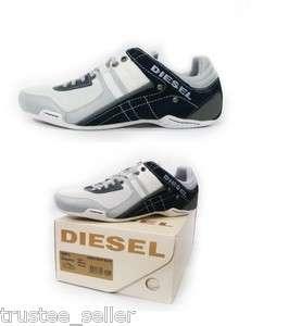 NEW DIESEL Brand Mens Korbin II High Rise White Blue Fashion Shoes