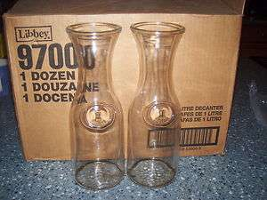 ONE.1 LITRE CLEAR GLASS CARAFE DECANTER made in CANADA