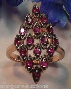 GENERATIONS 1912 GENUINE RUBY RING 14kt ROSE GOLD