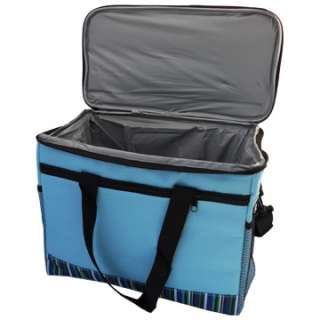 Lunch Picnic Insulated Box Cooler Thermal Bag Large Blue