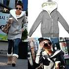 Women/Lady Grey Fashion Classic Casual Long Sleeve Zip Hoodie Outwear