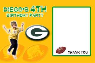 Packers NFL BIRTHDAY PARTY INVITATION FASTSERVICE CARD TICKETS