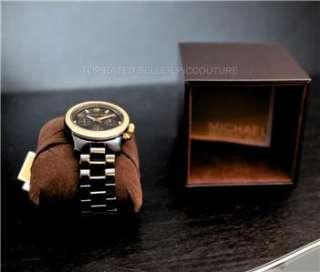 NIB Michael Kors Black Ceramic gold bling MK5270 watch