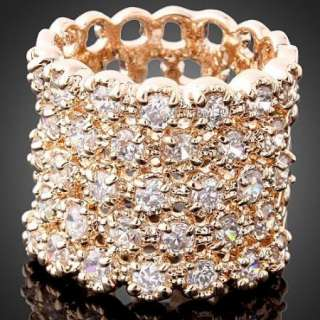 ARINNA Swarovski Crystal Rose Gold GP Cocktail Rings