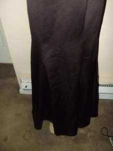 Euc Davids Bridal Wedding/ prom/bridesmaid chocolate brown dress size