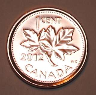 2012 1 Cent Canada Steel Nice Uncirculated Canadian Penny Magnetic