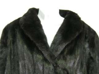 SAGA MINK Long Brown Black Mink Fur Coat Jacket