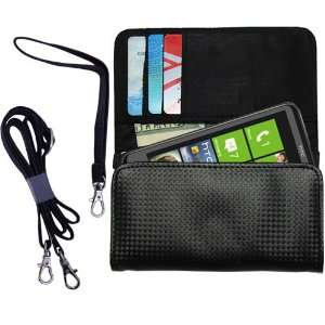Black Purse Hand Bag Case for the HTC HTC 7 Surround with