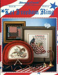 LET FREEDOM RING American Flag Patriotic USA Cross Stitch Pattern