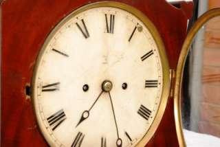 19TH CENTURY MAHOGANY TWIN FUSEE BRACKET CLOCK