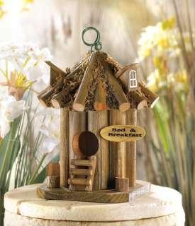 Bed and Breakfast Wood Birdhouse   Yard Garden Decor