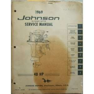 Johnson Outboard Motor Service Manual 40 HP Johnson Motors Books
