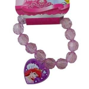 Ariel Crystal Heart Charm Bracelet   Ariel Bracelet   Pink Toys