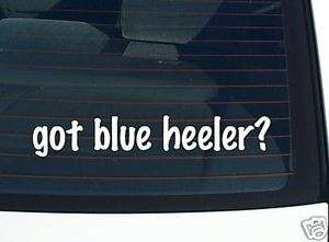 got blue heeler? DOG BREED FUNNY DECAL STICKER