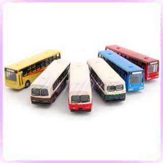 6pcs Diecast Model Bus Car 1160 Train Layout Scale N