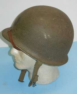 Original WWII Fixed Bale Helmet/St Clair 1st Model Low Pressure Liner