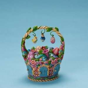 Jim Shore   Heartwood Creek   Easter Basket with Ornaments