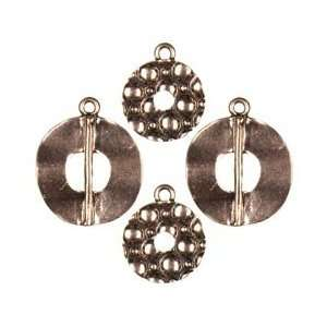 Cousin Jewelry Basics Metal Charms 4/Pkg Copper Donut; 3