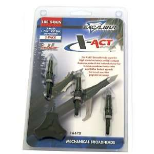 Crossbow High Speed Accuracy X ACT Mechanical Broadheads, 100gr, SS
