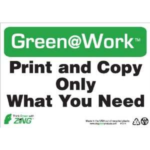 10 Width x 7 Length, Recycled Plastic, Black/White/Green (Pack of 1