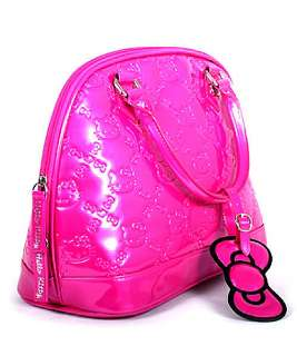 Loungefly HELLO KITTY FUSCHIA PINK PATENT EMBOSSED BAG